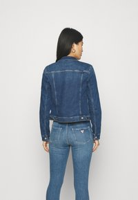 Marc O'Polo DENIM - JACKET REGULAR LENGTH PATCHED POCKETS - Denim jacket - multi/true indigo mid blue - 2