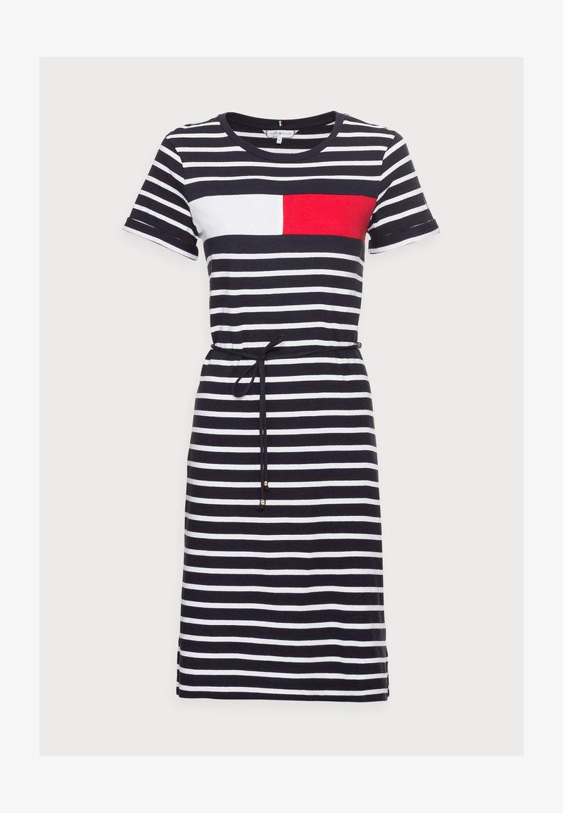 ABO REGULAR T SHIRT DRESS   Jerseykleid   desert sky/white