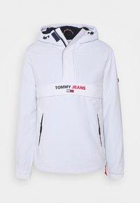 Tommy Jeans - SOLID POPOVER JACKET UNISEX - Windbreaker - white - 4