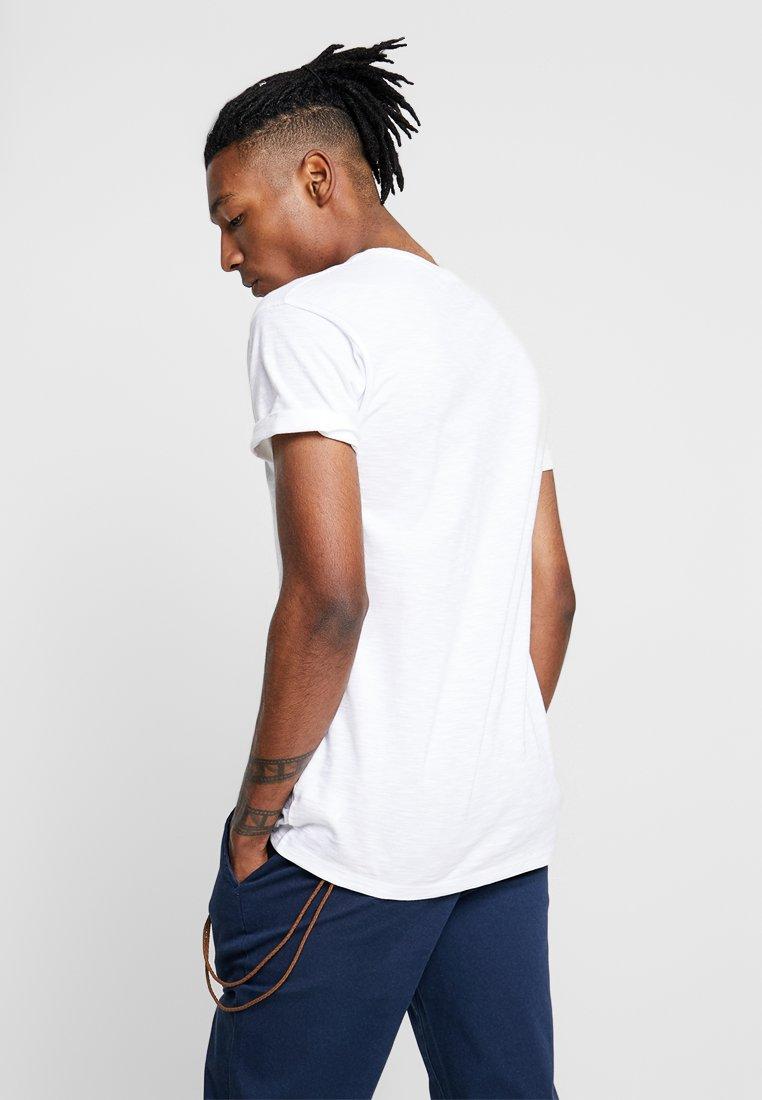 Topman SKIN SLUB  - Basic T-shirt - white K9w1c