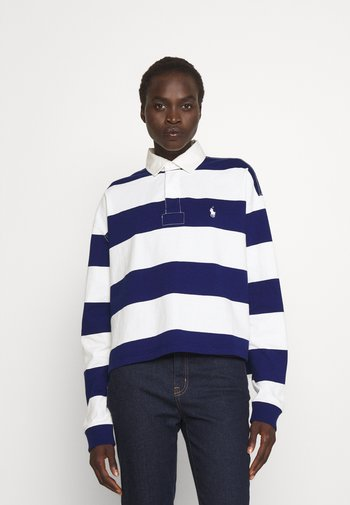 RUGBY LONG SLEEVE - Polo - deckwash white/fall royal