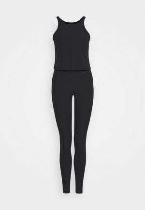 YOGA JUMPSUIT - Turnanzug - black/dark smoke grey