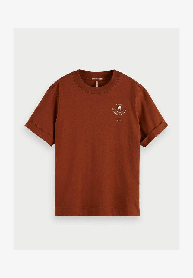 T-shirt print - sienna