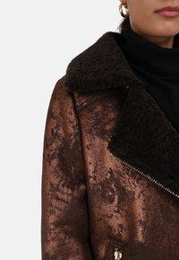 Oakwood - Faux leather jacket - chestnut - 3