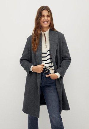 BARTOLI - Classic coat - mørk lynggrå