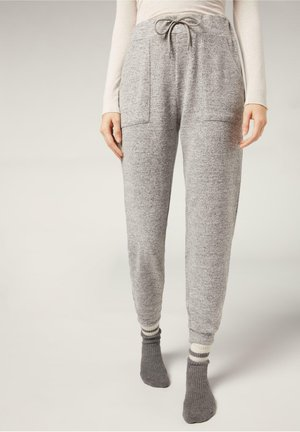 KOMFORT - Tracksuit bottoms - light grey melange