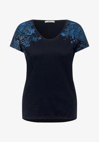 Cecil - MIT BLUMEN DEKO - Print T-shirt - blau - 3