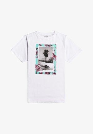 PAINTED PALMS - Rash vest - white