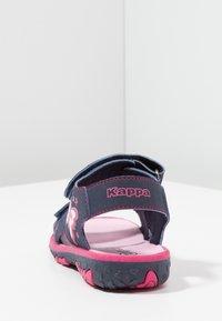 Kappa - BLOSSOM - Chodecké sandály - navy/pink - 4