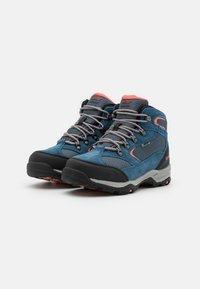 Hi-Tec - STORM WP WOMENS - Hiking shoes - blue/light blue/coral - 1