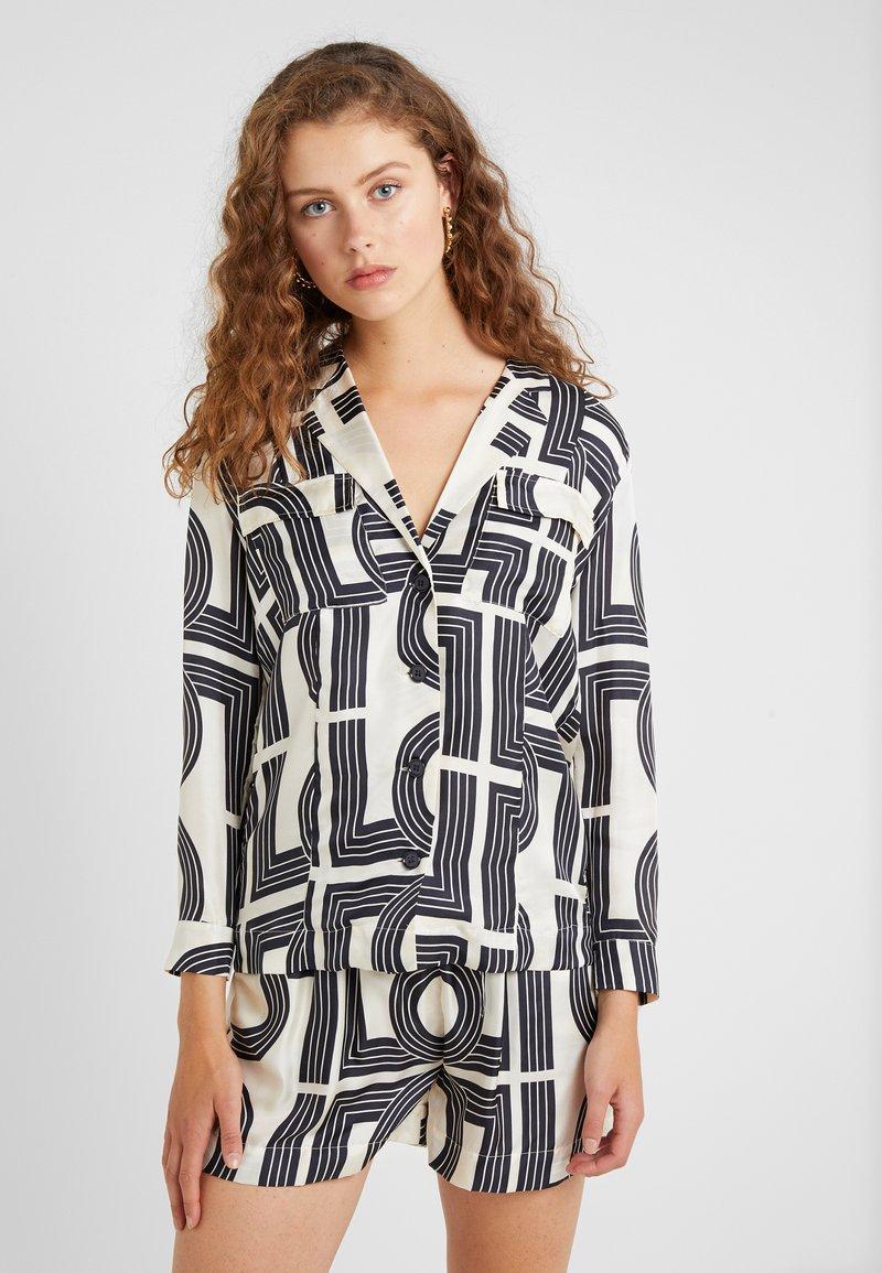 Lovechild - VIGGA - Button-down blouse - tapioca