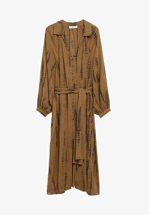 Vestido camisero - braun