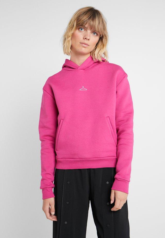 HANG ON - Felpa con cappuccio - pink
