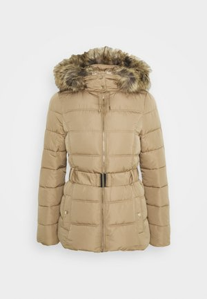 FITTED PADDED PUFFER - Winter jacket - camel