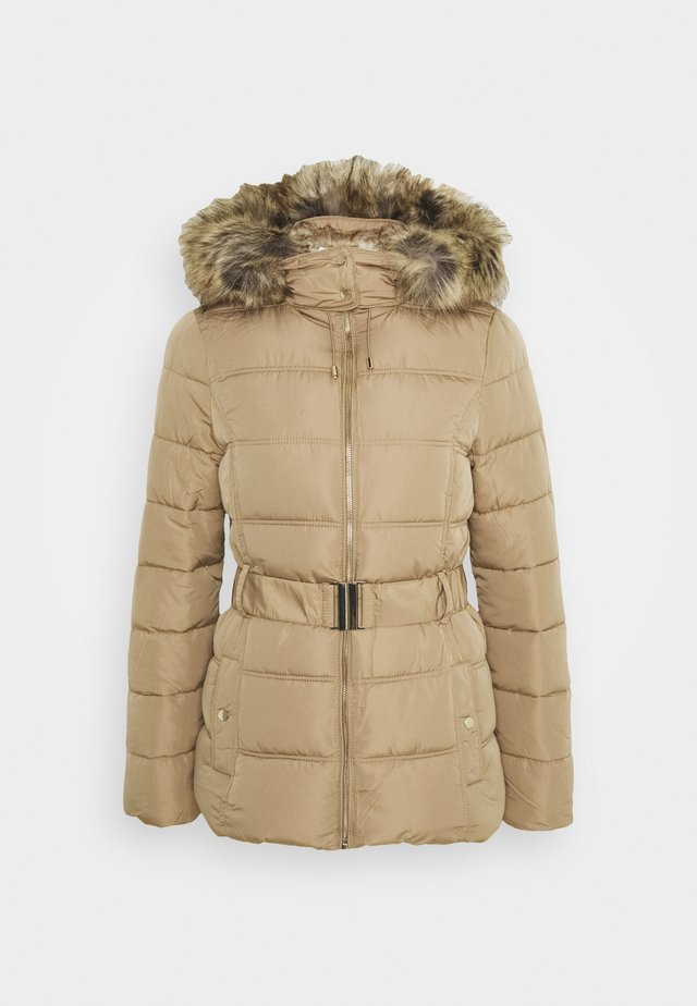 FITTED PADDED PUFFER - Giacca invernale - camel