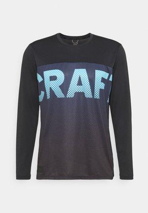 CORE OFFROAD  - Sports shirt - black/blaze