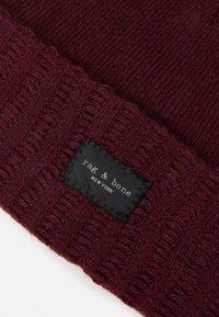 rag & bone - HAWTHORNE BEANIE UNISEX - Bonnet - burgundy - 3
