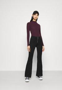 New Look - TURTLE NECK BODY - Long sleeved top - dark burgundy - 1