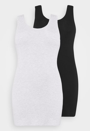 2 PACK - Day dress - black/grey