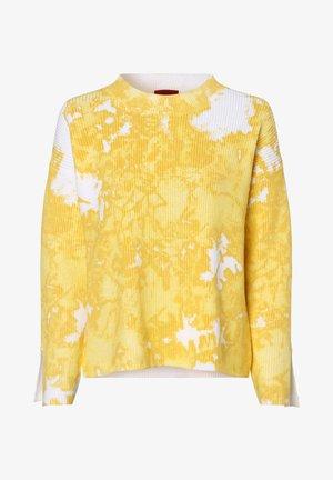 Jumper - gelb weiß