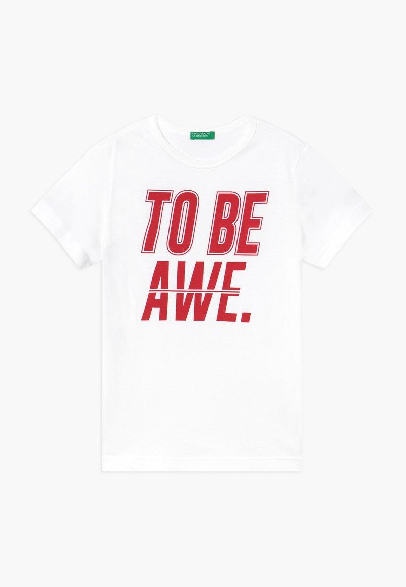 Benetton - Camiseta estampada - white