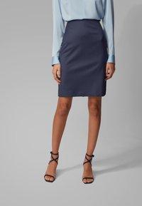 BOSS - VIKENA - Pencil skirt - dark blue - 0