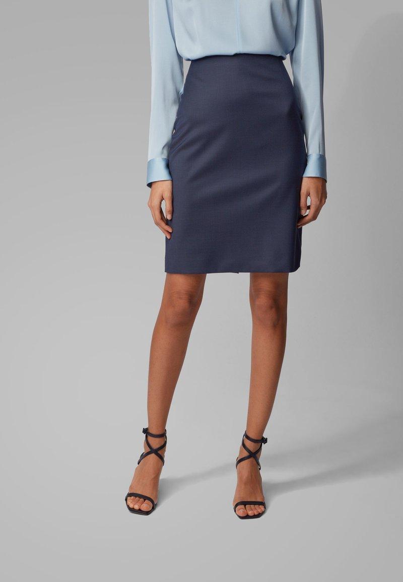 BOSS - VIKENA - Pencil skirt - dark blue