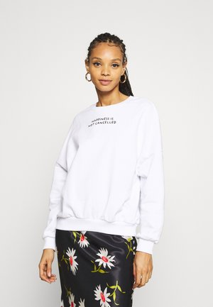 OVERSIZED PRINTED CREW NECK SWEATSHIRT - Sweatshirt - white