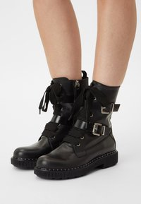 MAX&Co. - MARINAIO - Cowboy/biker ankle boot - black - 0