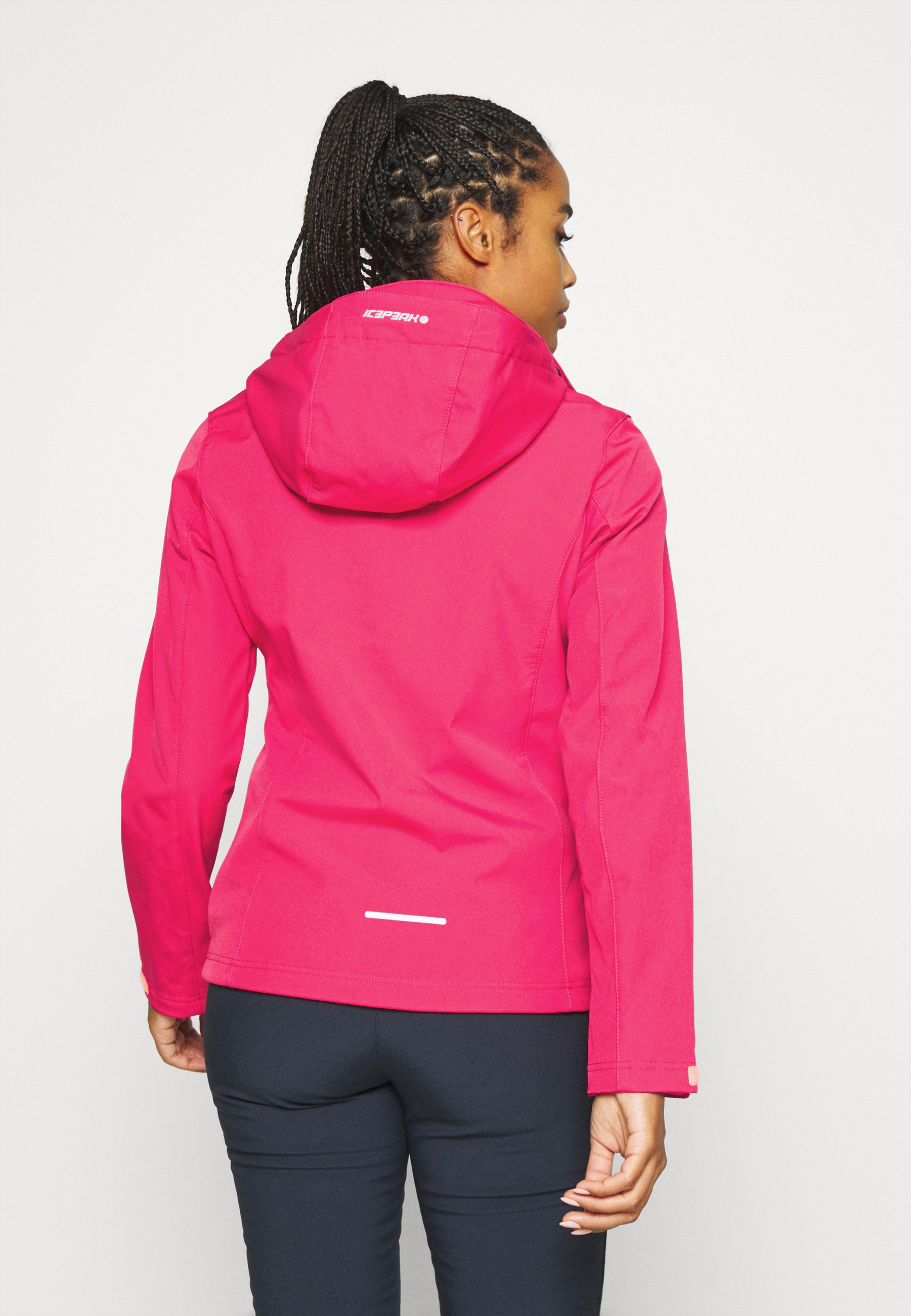 Fashion Style Original Women's Clothing Icepeak BOISE Soft shell jacket coral red KM95IzcYW EJMuBfcCu