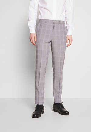 GRAPHIC CHECK - Suit trousers - grey