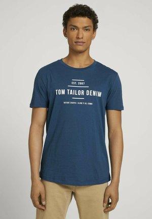 Print T-shirt - stormy petrol