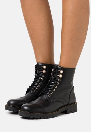 OYSTER LACE UP - Lace-up ankle boots - black