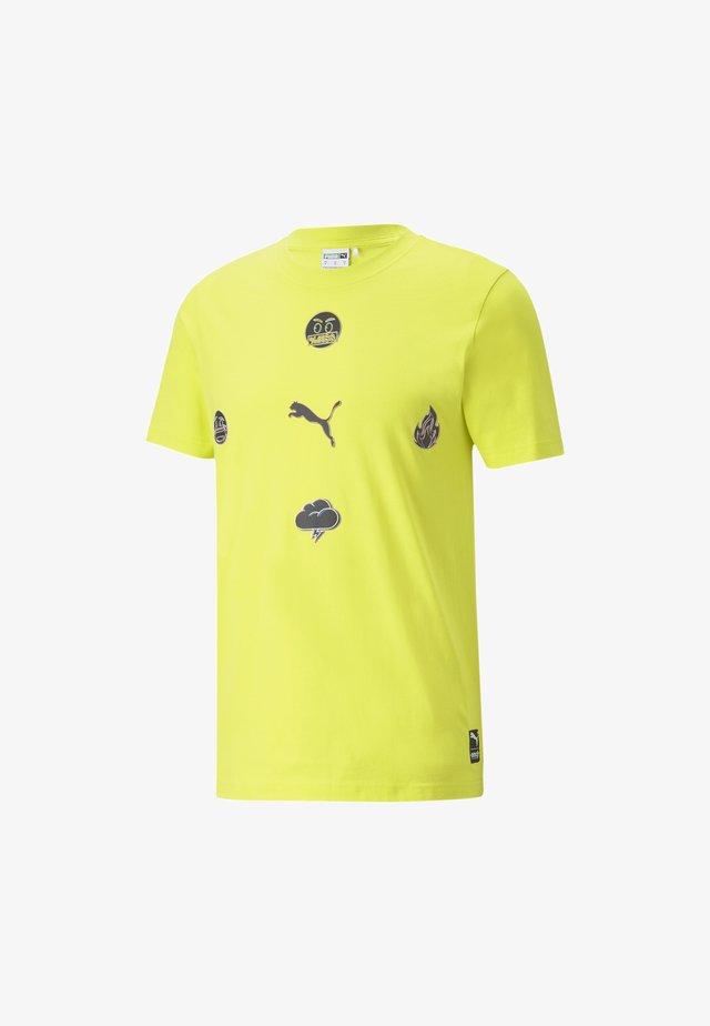 PUMA X EMOJI  - Print T-shirt - sulphur spring