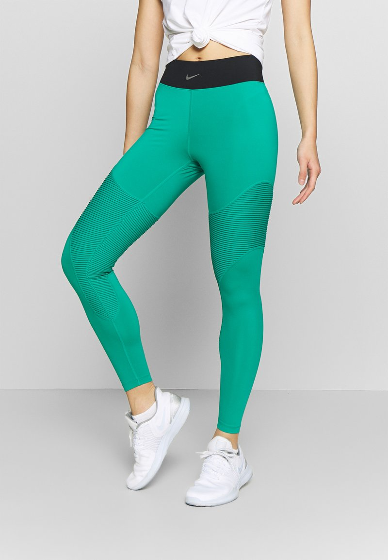 Nike Performance - AEROADAPT - Leggings - neptune green/black/metallic silver