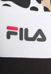 Fila - ANOKIA BLOCKED TEE - Print T-shirt - bold/black/bright white - 5