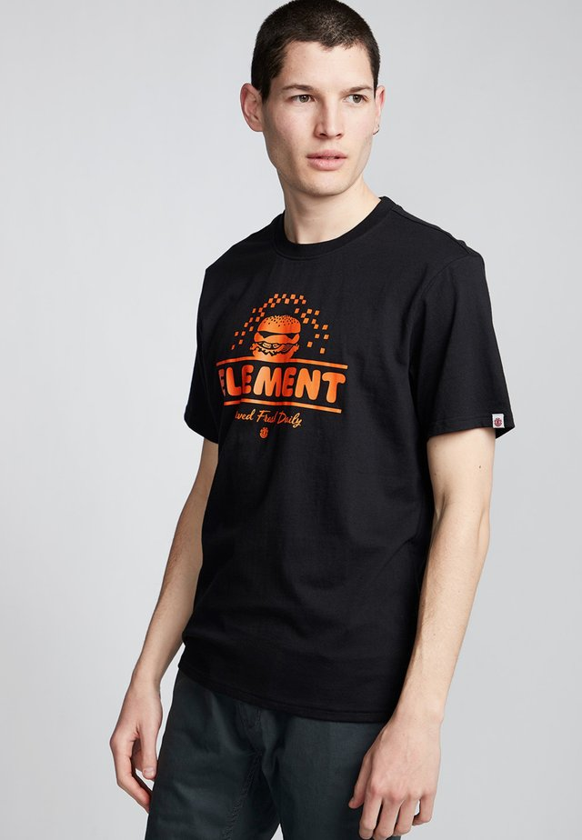 BURGER - Print T-shirt - flint black