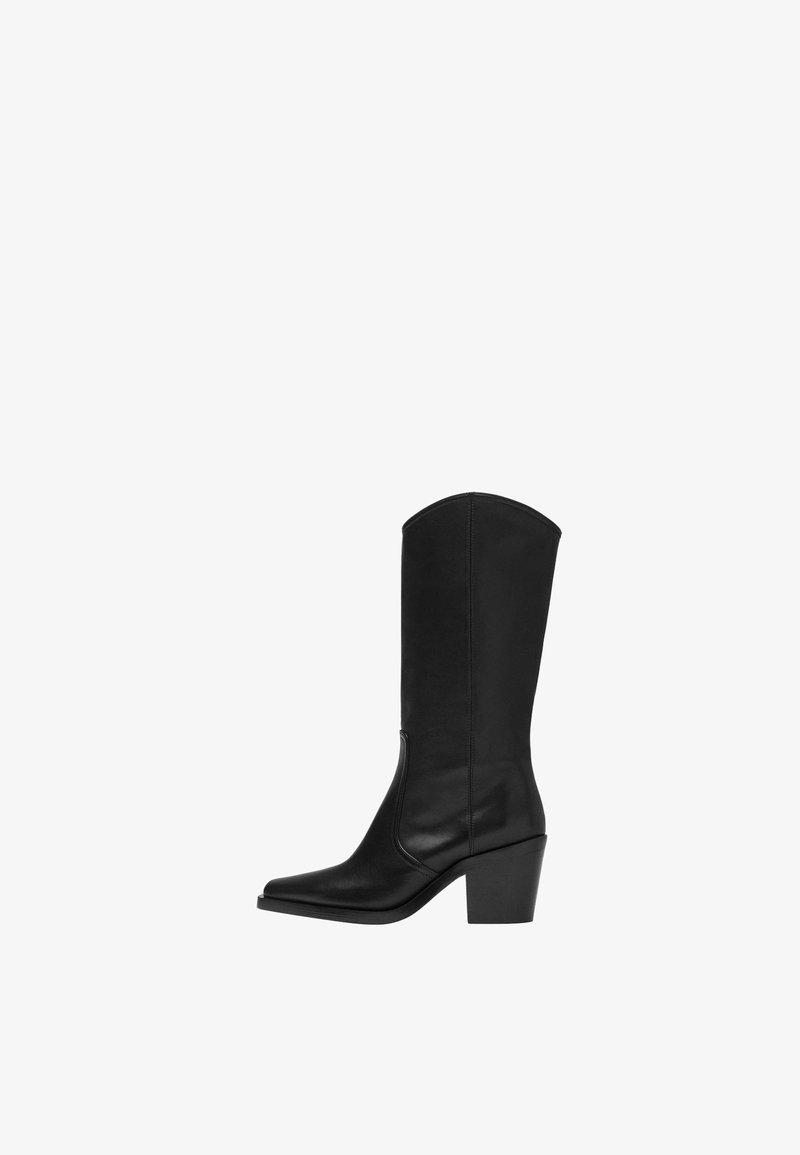 Uterqüe - Cowboy/Biker boots - black