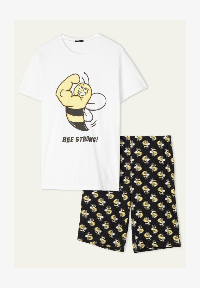 Nachtwäsche Set - bianco st.bee strong