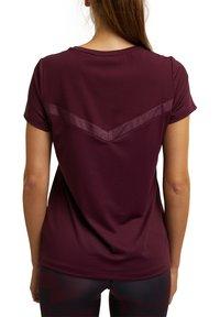 Esprit Sports - Basic T-shirt - bordeaux red - 7