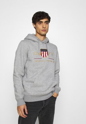 ARCHIVE SHIELD HOODIE - Sweat à capuche - grey melange