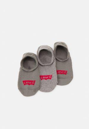 FOOTIE HIGH RISE BATWING LOGO 3 PACK - Trainer socks - middle grey melange