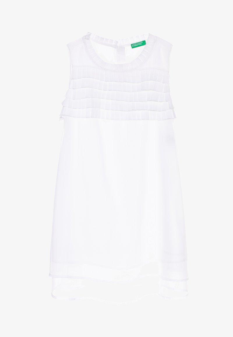 Benetton - DRESS - Vestido de cóctel - white