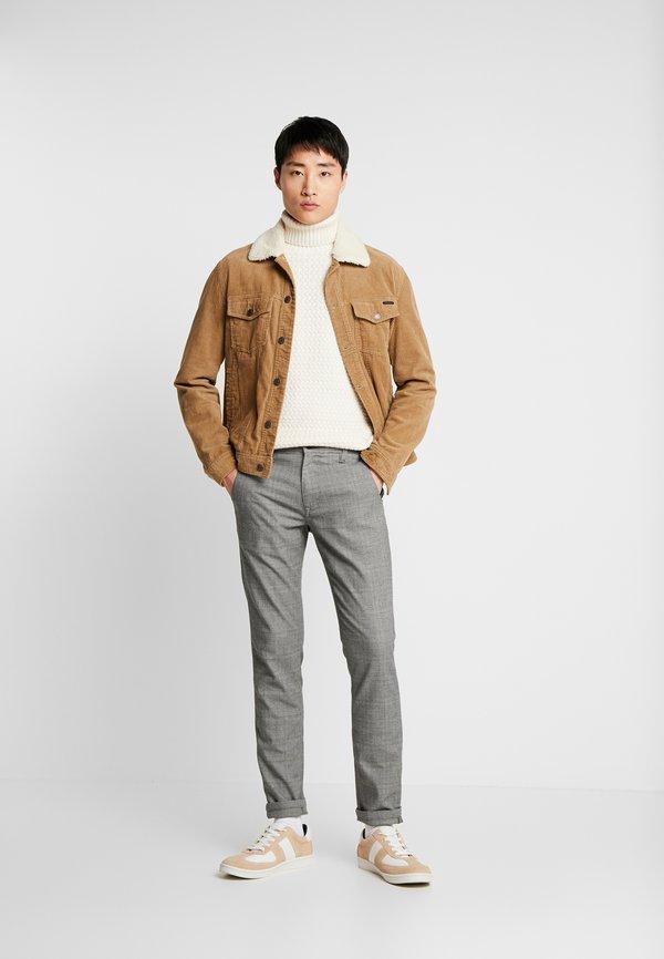 Selected Homme SLHSLIM STORM FLEX SMART PANTS - Spodnie materiałowe - grey/szary Odzież Męska GQZD