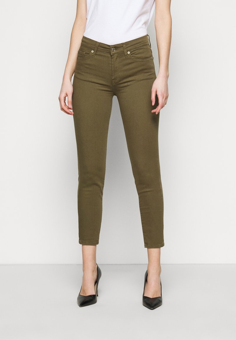 7 for all mankind - ROXANNE ANKLE COLORED BAIR AGAVE - Jeans Skinny Fit - green