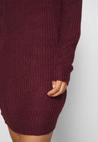 Missguided - AYVAN OFF SHOULDER JUMPER DRESS - Robe pull - burgundy - 5