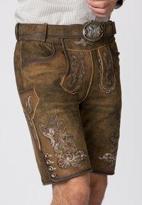 Stockerpoint - HANS - Leather trousers - havana - 3