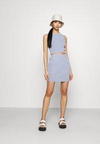 Bec & Bridge - MIMI MINI SKIRT - Mini skirt - silver blue - 1