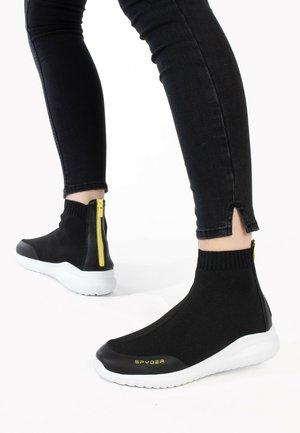 BASKETS LEON - Höga sneakers - black melange