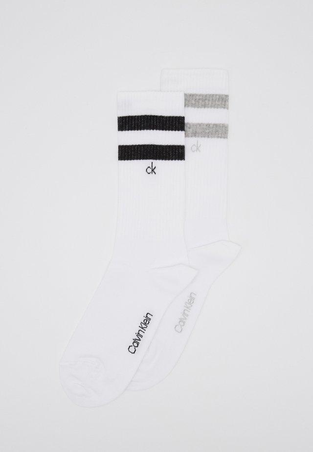 STRIPES CASUAL CREW 2 PACK - Socks - white